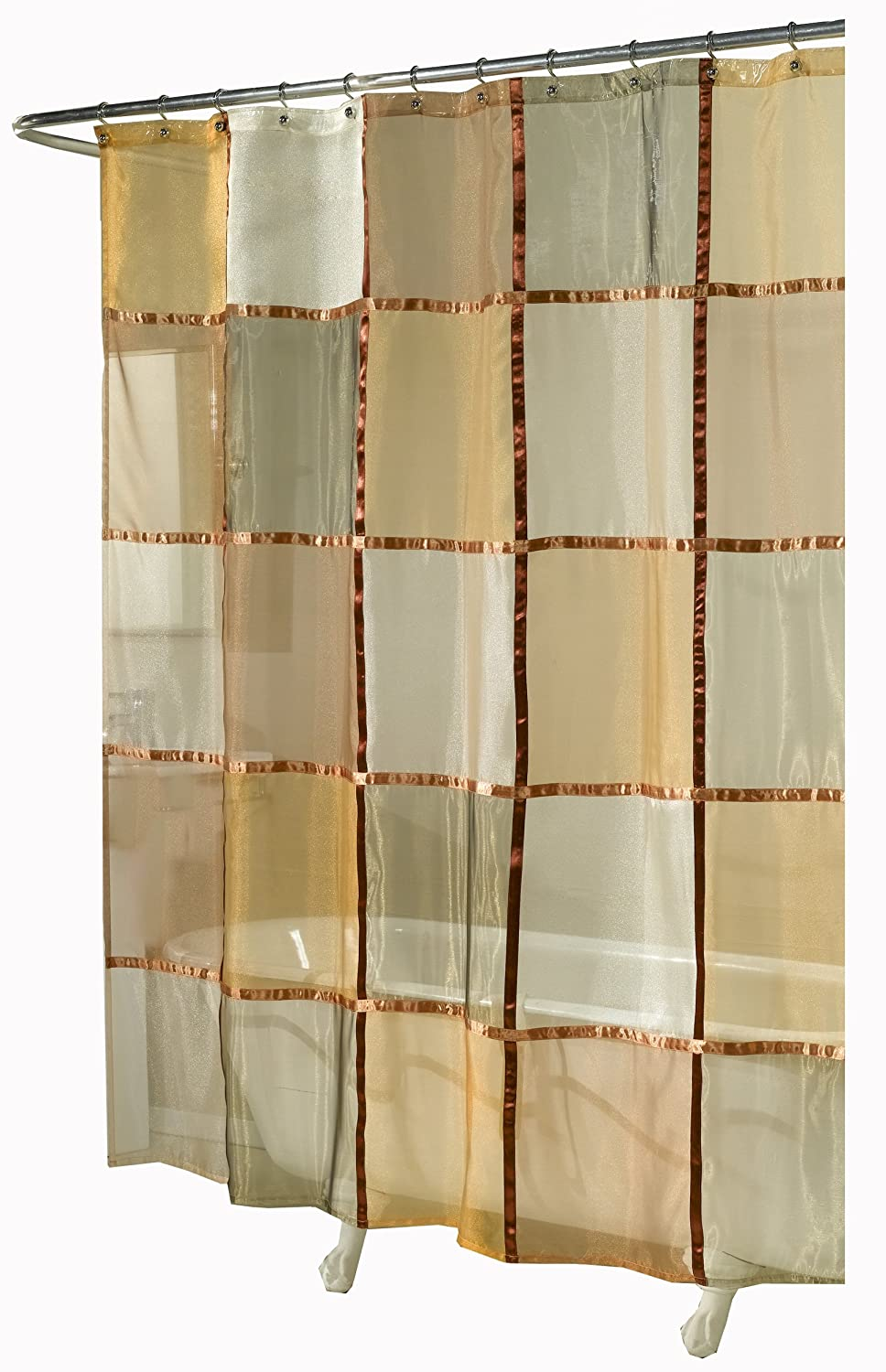 ex cell home fashions mosaic fabric shower curtain. Black Bedroom Furniture Sets. Home Design Ideas