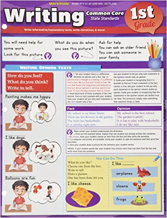 Writing Common Core 1St Grade written by Inc. BarCharts