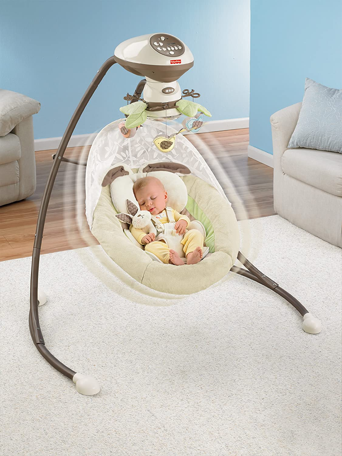 The top 10 best baby swings for 2014 feedback and reviews - Best baby swings for small spaces image ...