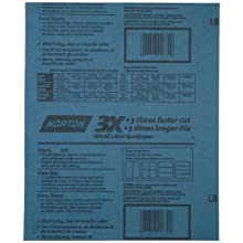 Norton 3X Abrasive Sheet, Paper Backing, Aluminum Oxide