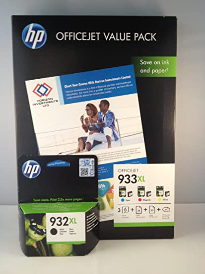 4 Originales cartouches d'encre hP 932 hP933XL bk c/j/m) pour hP officejet 7110 wide format ePrinter cartouches d'encre