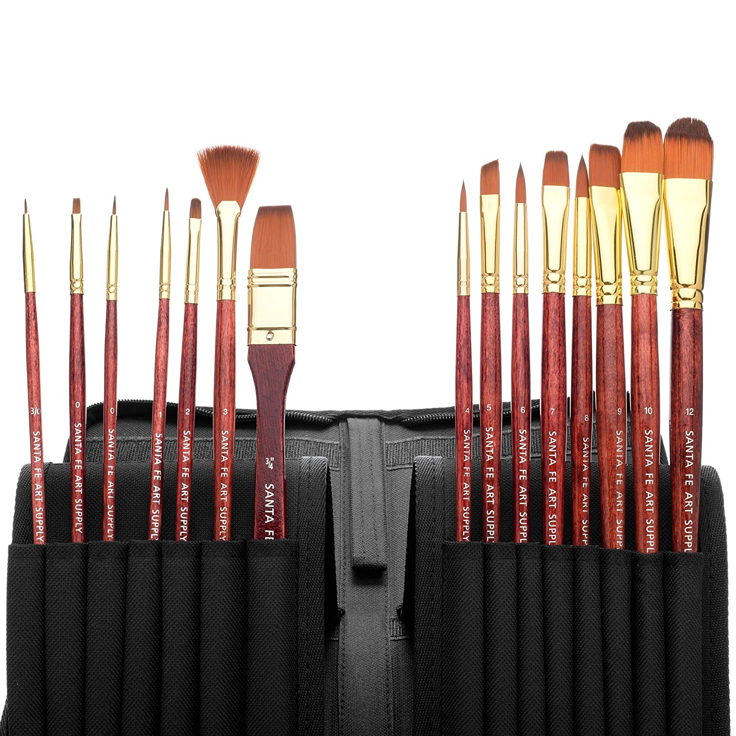 Santa Fe Art Supply Best Quality Artist Paintbrush Set.