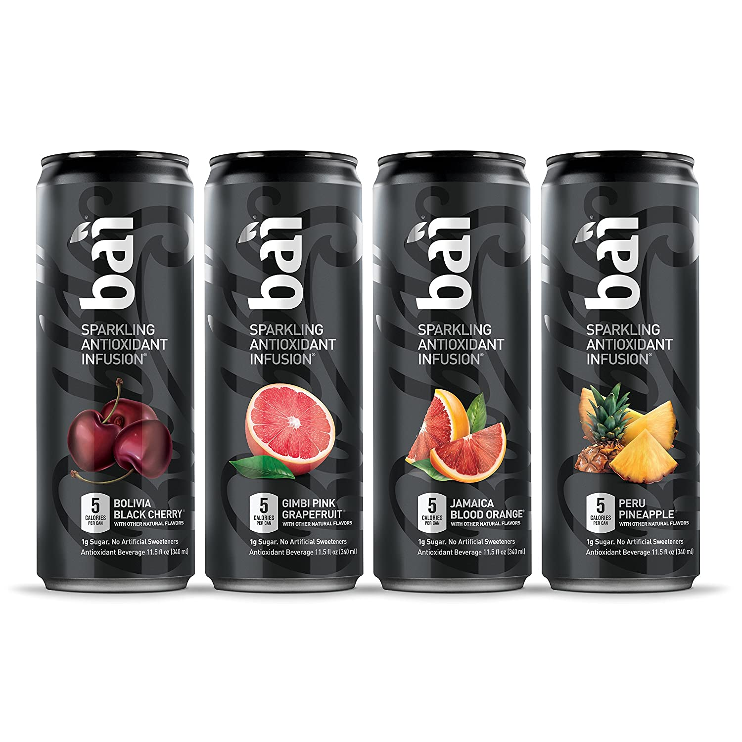 Bai Bubbles Variety Pack, Sparkling Antioxidant Infused Beverage