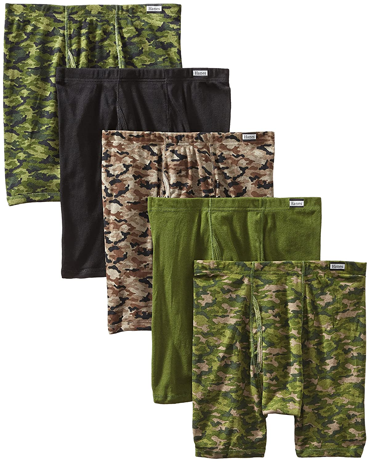 Hanes Men\'s 5-Pack Comfort Soft Printed Boxer Briefs at Amazon Men's Clothing store