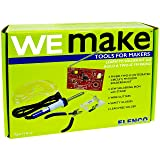 WEmake FM Radio DIY Soldering Kit with Tools | Soldering Iron | Side Cutters | Safety Glasses | Lead Free Solder | Great Stem Project