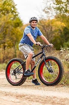 Mongoose Men's Dolomite, Fat-Boys Tire Cruiser, Bike, Blue, 26 inch