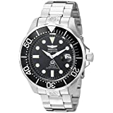 Invicta Men's 3044 Stainless Steel Grand Diver Automatic Watch, Silver/Black (Color: Silver/Black)