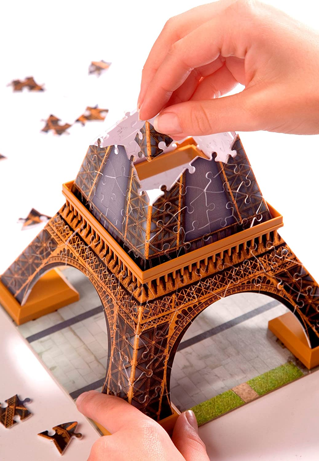 puzzle 3d building tour eiffel ravensburger 12556 ebay. Black Bedroom Furniture Sets. Home Design Ideas