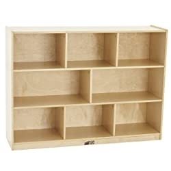 Birch Storage Cabinet with Casters