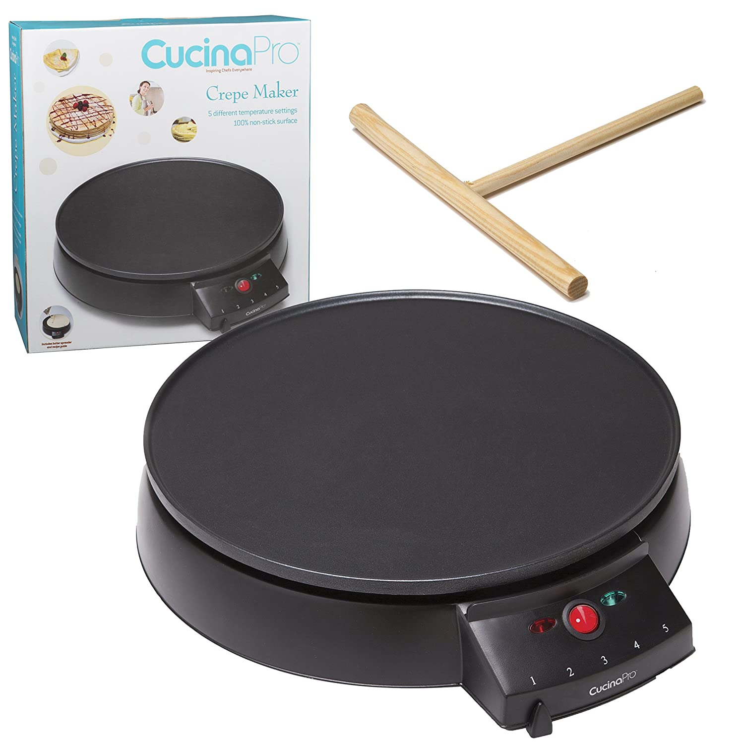 Cucina Pro Crepe Maker and Non-stick 12-inch Griddle