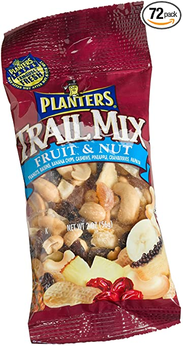 Amazon - 72 x Planters Trail Mix Fruit and Nut, 2oz - $23.44