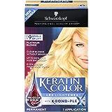 Schwarzkopf Keratin Color Care Lighteners Permanent Hair Color Cream, Platinum Blonde (Pack of 12) (Color: Platinum Blonde)
