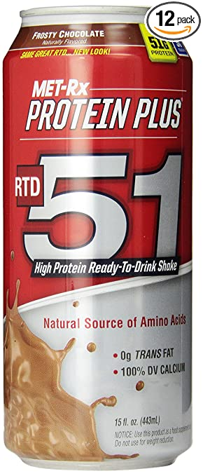 MET-Rx RTD 51 Frosty Chocolate, 15 ounce, 12 count