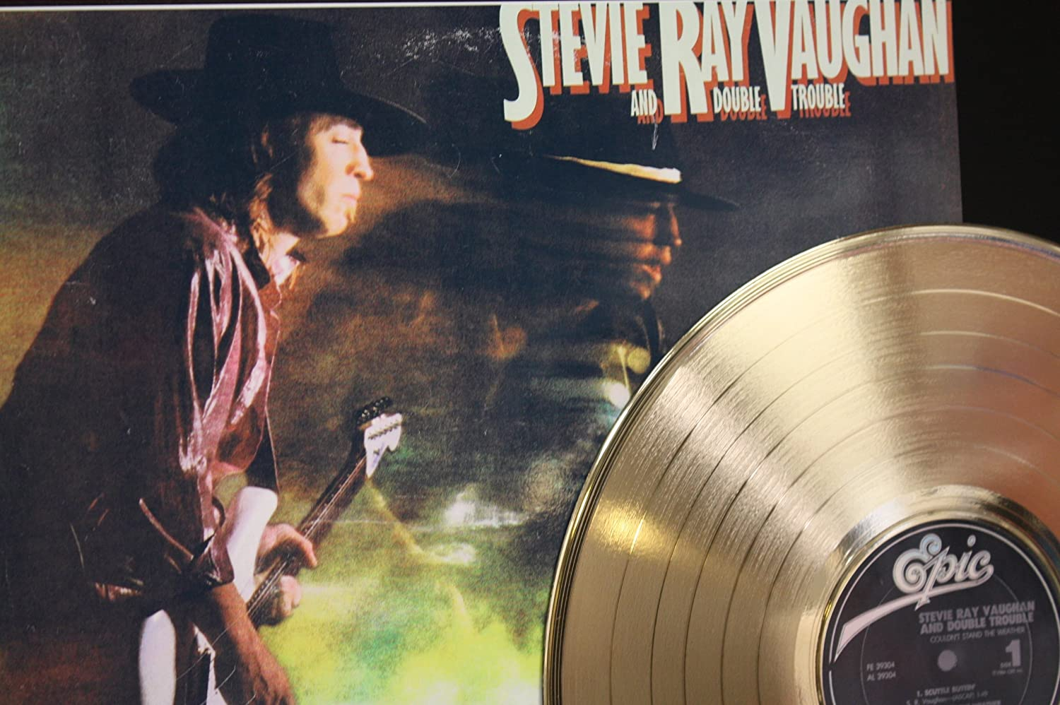 Stevie Ray Vaughan Couldn'T Stand The Weather Gold LP Record LTD Edition Display the paper dolls world record edition