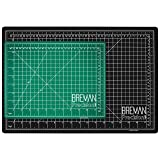 Breman Precision Self Healing Cutting Mats 9x12 and 12x18 Inches - 2 Pack I Sewing Scrapbooking Quilting Fabric Rotary Cutting Mats I 2-Sided 5-Ply PVC Craft Mats with Grid Lines I Black/Green (Tamaño: A4(12X9)/A3(18X12) Inches)