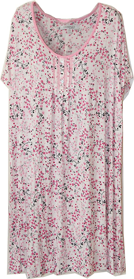 Ellen Tracy Floral and Hearts Nightgown