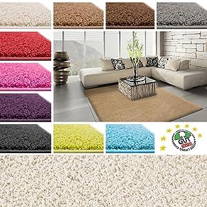Floori Shaggy Hochflor Teppich  200x290cm  grau/anthrazit   Kundenbewertung und Beschreibung