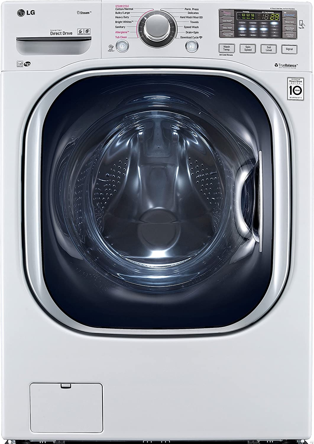 LG WM4270HWA TurboWash 4.5 Cu. Ft. White Stackable With Steam Cycle Front Load Washer - Energy Star
