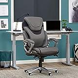 Serta 43807 Air Health and Wellness Executive Office Chair, Light Grey, Gray (Color: Light Gray, Tamaño: Executive)