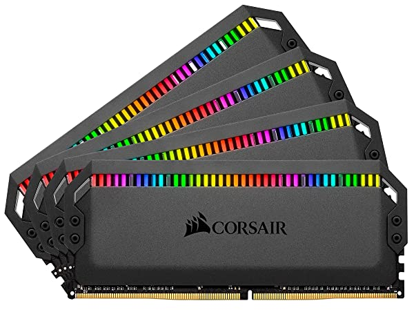 Corsair Dominator Platinum RGB 64GB (4x16GB) DDR4 3200 (PC4-25600) C16 1.35V Desktop Memory - Black (Tamaño: 64 Gb)