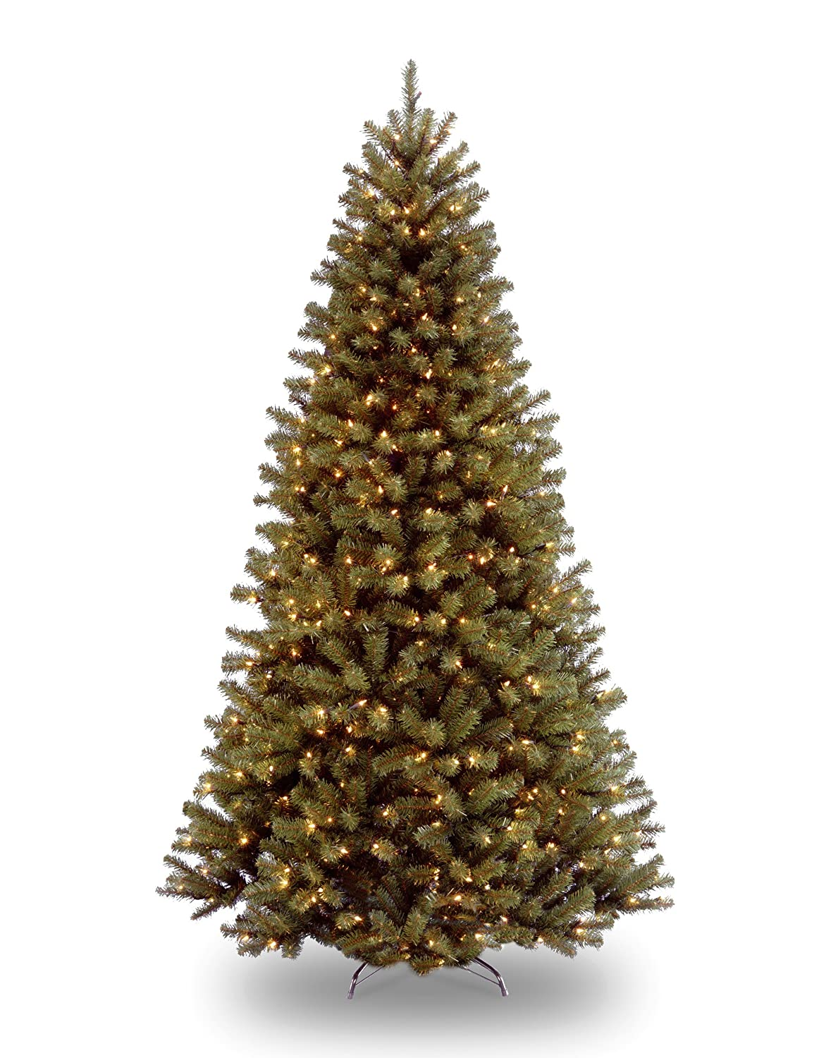 National Tree 7 1/2' North Valley Spruce Tree, Hinged, 550 Low Voltage Dual Color LED Lights with On/Off Switch (NRV7-300LD-75S) national tree company 180 31pc6ms pc3 6ms