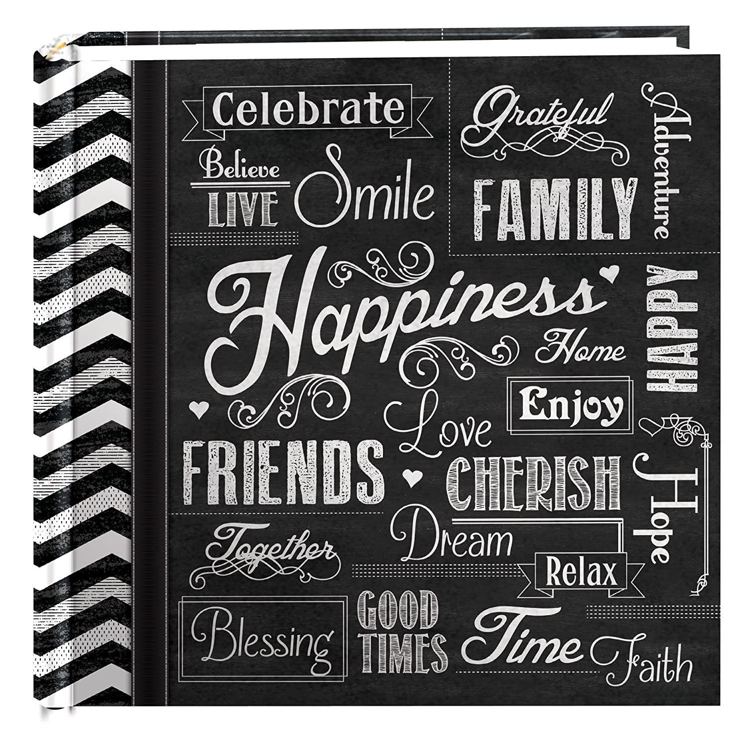 Pioneer Photo Albums 200-Pocket Chalkboard Printed Happiness Theme Photo Album for 4 by 6-Inch Prints campus pioneer 200 xl