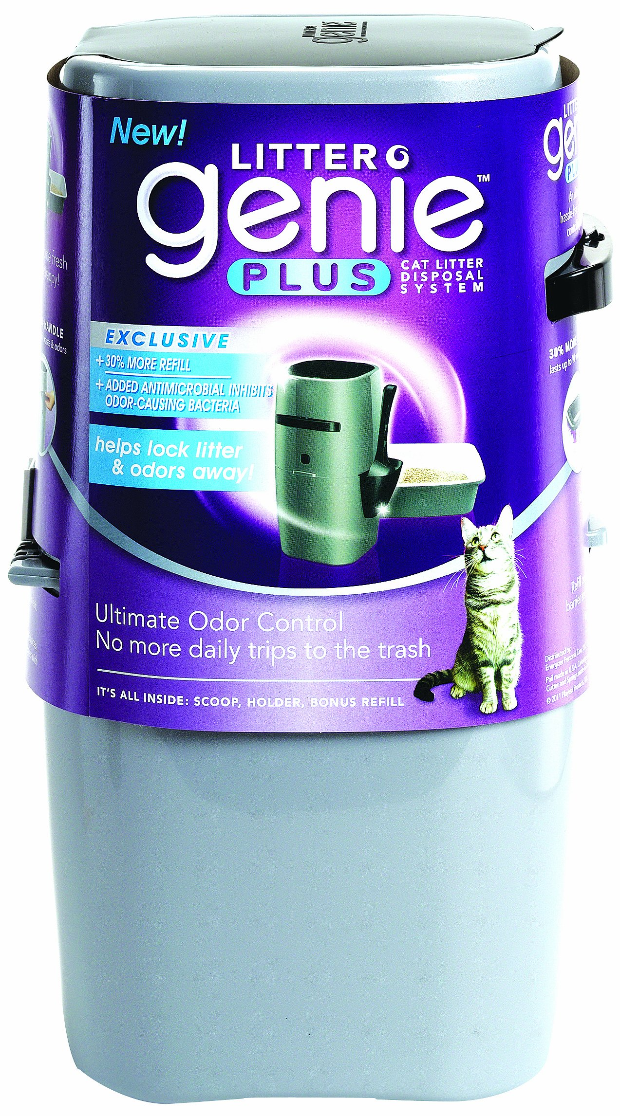 Litter Genie Plus Ultimate Cat Litter Odor Control Pail by
