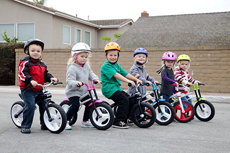 the bike helmet in bright colors for kids