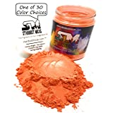 Stardust Micas Soap Making Pigment Powder Cosmetic Grade Colorant for Makeup, Epoxy Resin,DIY Crafting Projects, Bright True Colors Stable Mica Batch Consistency Blood Orange (Color: Blood Orange, Tamaño: 72 Gram Jar)