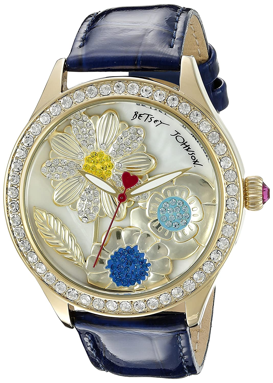 Betsey Johnson Women's BJ00517-13 Analog Display Quartz Blue Watch