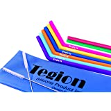 Tegion Reusable Silicone Straws Bundle for 30 oz Tumbler Yeti Rtic-Most Rigid Silicone Bend Straws 6 Set (Between Extra Wide & Standard Straw Size)+ 2 Silicone Straight Straws+2 Brush+1 Storage Pouch (Color: Blue,yellow,orange,pink,green,purple, Tamaño: bend straight straws bundle)