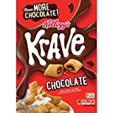 Kellogg's Krave Breakfast Cereal, Chocolate, Good Source of Fiber, 11.4 oz Box(Pack of 10)