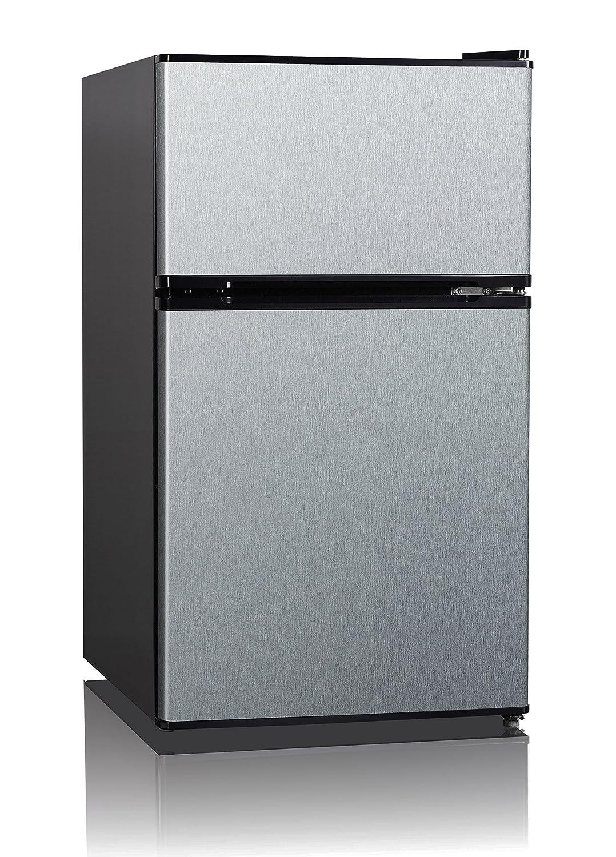 Midea stainless steel compact single reversible door upright freezers - List Of Best Bar Fridge Refrigerators With Ice Makers