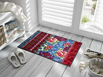 Kleentex romance paillasson multicolore n wash dry for Tapis cuisine wash and dry