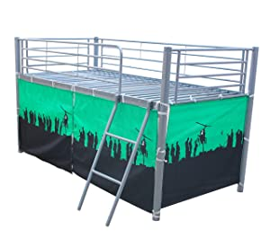 FoxHunter Childrens Metal Mid Sleeper Cabin Bunk Bed Kids Tent Single 3FT Boy No Mattress New       review and more information