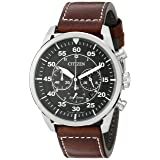 Citizen Men's Eco-Drive Stainless Steel Chronograph Watch with Date, CA4210-24E (Color: Silver Tone Stainless Steel)