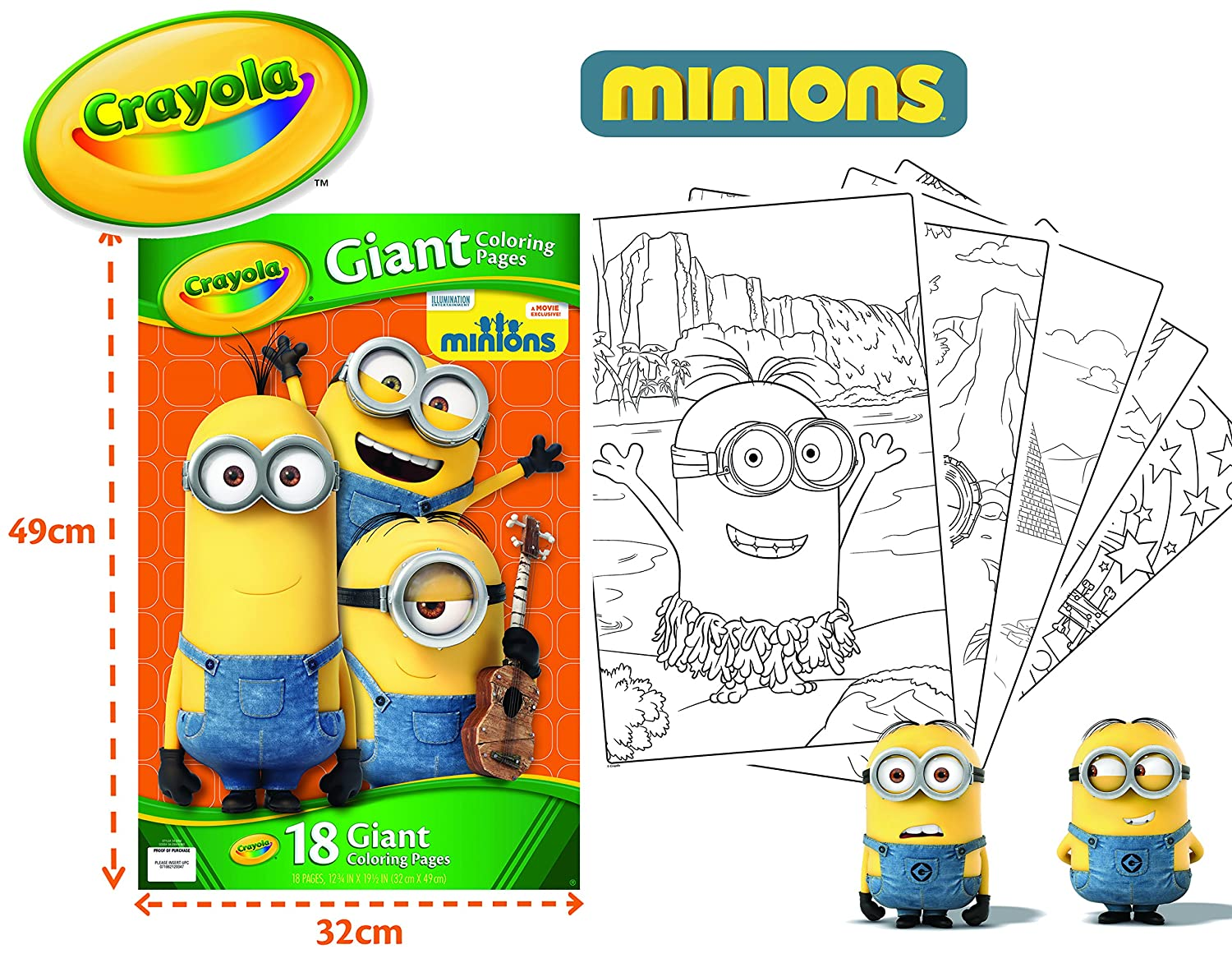 buy crayola giant color pages minions online at low prices in india amazonin