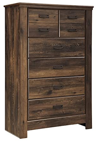 Signature Design by Ashley Quinden Dark Brown Five Drawer Chest