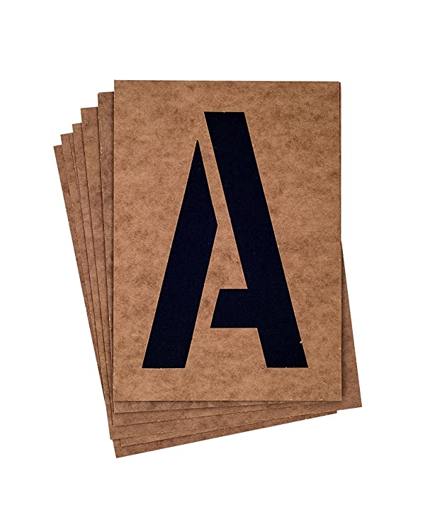 Westcott LetterCraft 8 Capital Letters and Numbers Oil Board Stencil Kit