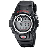 Casio Men's G-Shock G2900F-1V Black Resin Sport Watch (Color: Black/Red, Tamaño: true)
