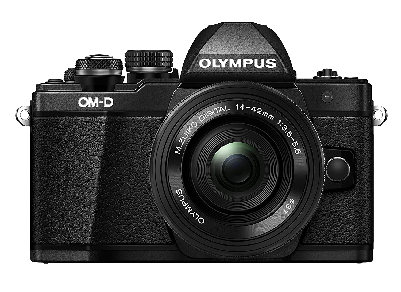 Digital Cameras OLYMPUS OMD EM10 MARKII BLACK 16MPIXELS KIT 14-42MM EZ