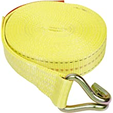 Mazzella 2 Inch X 27 Feet Wide Handle Rachet Tie-Down Assembly with Wire Hooks Both Ends