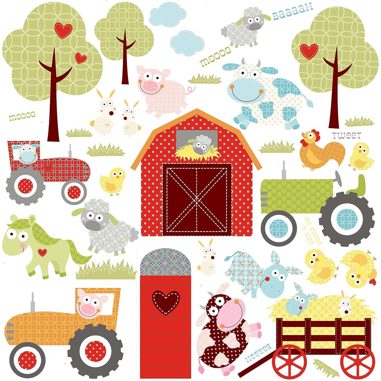 RoomMates RMKSCS Happi Barnyard Wall Decals Amazonin Toys - Barnyard nursery wall decals