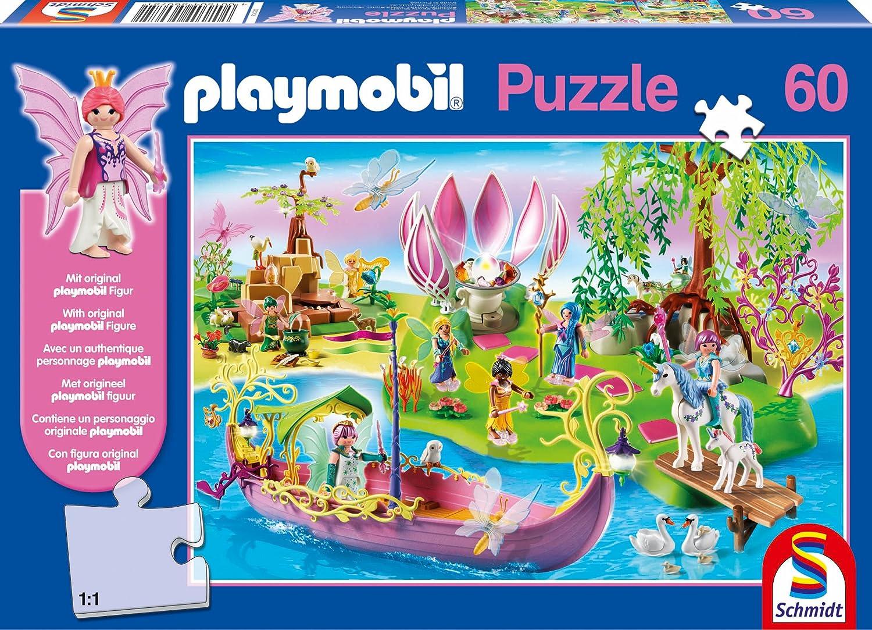 Schmidt Spiele 56075 – Playmobil, Kunterbunte Feenwelt, 60 Teile Puzzle jetzt kaufen