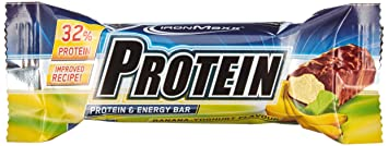 Ironmaxx Proteinriegel Banane Yoghurt, 24 x 35g, 1er Pack (1 x 840 g)