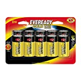 Eveready Gold D Cell Alkaline Batteries, Long-Lasting Reliable Power, 10 Year Power Storage, 10 Count (Tamaño: 10 Count)