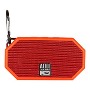 Altec Lansing IMW257 Mini H2O Wireless Bluetooth Waterproof Speaker (Red) (Color: Red, Tamaño: 2.25 x 1.00 x 4.13 inches)