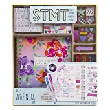 STMT DIY Agenda Set by Horizon Group USA, Decorate Your Ultimate Planner/Organizer/Diary with Debossed & Regular Stickers, Sticky Notes & Glitter Tape. Gel Pens & Paper Clips Included (Color: Assorted)