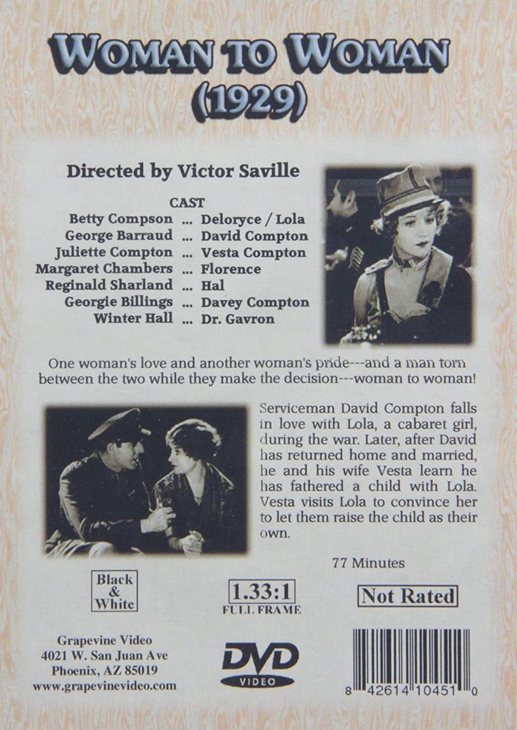 Woman to Woman [DVD] [1929]