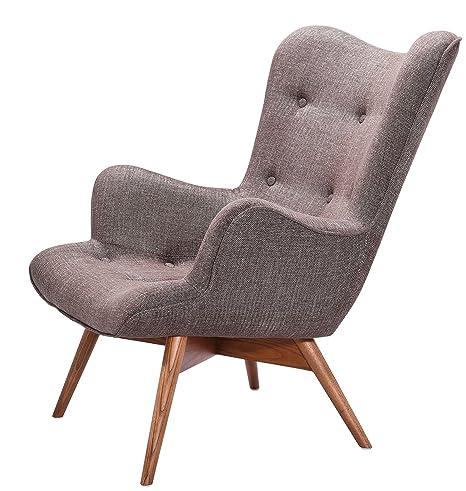 Design Chesterfield Sessel grau/braun
